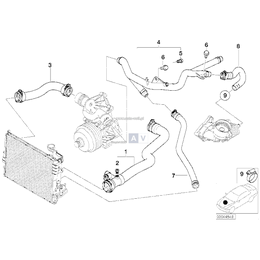 Przewód wąż ukł. chłodzenia dolny BMW E46 330d 330xd M57 - 11532247851