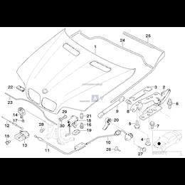 Uszczelka pokrywy silnika środkowa - 51718403228