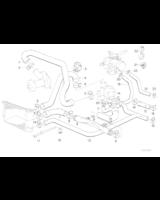 Przewód elastyczny układu chłodzenia BMW E34 520i 525i M20 - 11531722215