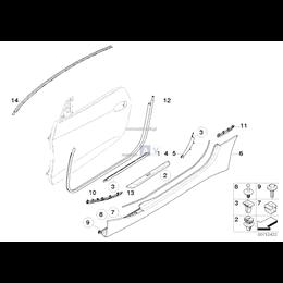 Mocowanie progu, tylne lewe - 51717034027