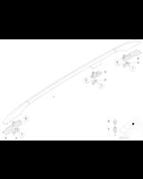 Adapter relingu dachowego, lewy - 51137030881