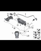 Sprężyna pneumatyczna tył BMW F07 F11 518 520 523 525 528 530 535 550 M - 37106781843