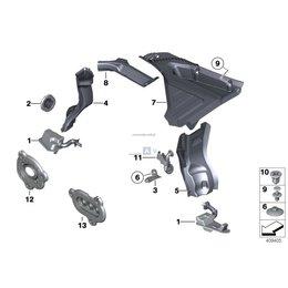 Przycisk mocowanie izolacji dźwiękowej BMW E23 E24 E28 E30 E31 E32 E34 E36 E38 E39 E46 E53 E60 E63 F01 F10 F11 F13 - 51481923999