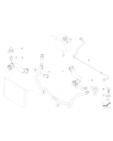 Elastyczny przewód chłodnicy BMW E60 E61 E63 E65 730 530 630 523 525 - 17127521778