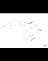 Szczęki hamulca ręcznego BMW E46 E39 E60 E61 E63 X5 X3 E65 - 34416761293