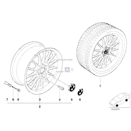 Obręcz koła aluminiowa - 36111091990