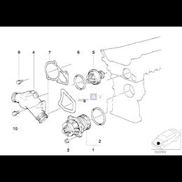 Uszczelka obudowy termostatu BMW E34 E39 520i 525i 320i 325i M50 prod do 05.1992r - 11531748047