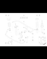 Odbój amortyzatora przód BMW E60 E61 520 523 525 528 530 545 550 - 31336764086