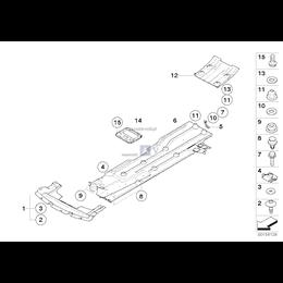 Osłona podwozia przód MINI R50 R52 R53 Cooper S One - 51757201782