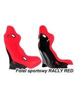 Fotel sportowy RALLY BLACK, czerwony