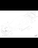 Atrapa nerka czarna prawa BMW Performance E90N E91N 316 318 320 323 325 328 330 335 M5 - 51712146912