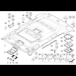 Konsola podsufitki przednia - 51448258058