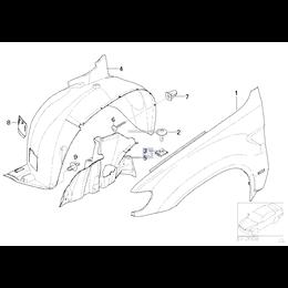 Osłona wnęki koła, przednia lewa - 51718402443
