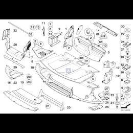 Ekran przedziału silnika przedni - 51717031942
