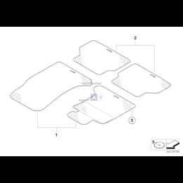 Kpl. dywaników gumowych, tył - 51470429236