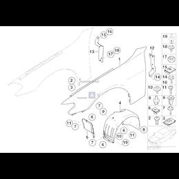 Osłona wnęki koła, przednia prawa - 51717136684