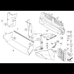 Kanał powietrza przedni lewy - 51743416425