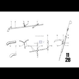 Dopływ oleju, Przewód elastyczny odpowietrzający - 11151261161