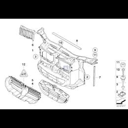 Kanał powietrza chłodnicy oleju prawy nadkola przód BMW E90 E91 E92 E93 335i 335d 335xi - 51717161436