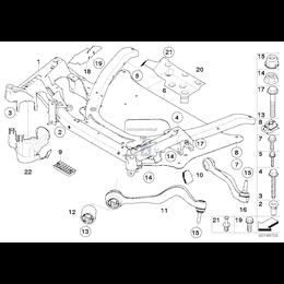 Osłona wahacza przód lewa BMW E60 E61 E63 E64 520 523 525 530 535 550 630 635 650 - 51717201515