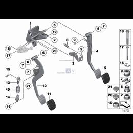 Ogranicznik pedału sprzęgła BMW E38 E39 E46 E85 Z4 E89 316 318 320 325 323 328 330 520 523 525 528 530 540 728 730 740 - 3531675