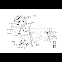 Uszczelka skrzyni korbowej BMW E12 E23 E24 E26 E28 E3 E32 E34 E9 530 535 730 735 M30 - 11141250073