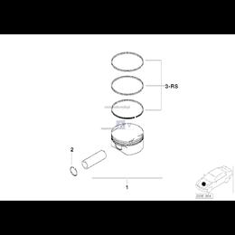 Kpl. pierścieni tłokowych - 11257514928