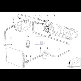 Przewód ssący parownik-kompresor - 64532229019