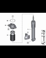 Poduszka mocowanie amortyzatora tył BMW F07 F11 520 528 530 535 550 - 33506781682