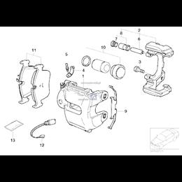 Sprężynka zacisku BMW E36 E46 M3 Z3 E85 Z4 M3,2 - 34112227670