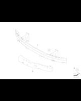 Absorber uderzenia przedni lewy - 51117178081
