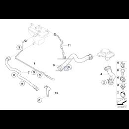 Uchwyt przewodu wody BMW E30 E32 E34 E46 E60 E61 E63 E70 E71 E84 E87 E90 E91 G11 G30 G32 - 11531714433