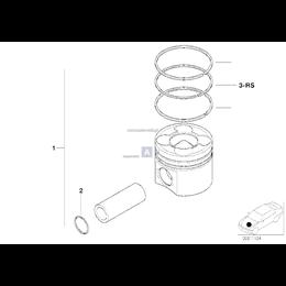 Dla samochodów z Filtr cząstek stałych, Tłok FMN - 11257799357