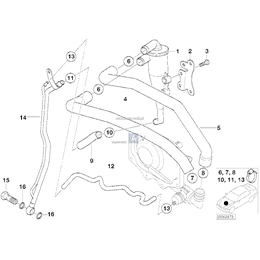 Elastyczny przewód olejowy, odpływ - 11157560068