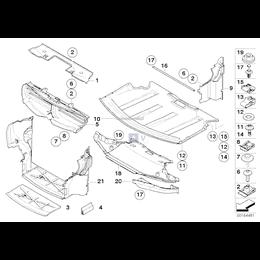 Osłona dolna komory silnika, przednia - 51757009723