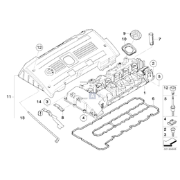 Pokrywa zaworów BMW E60N E71 X6 E82 E90 E91 E92 E93 F01 335i 135i 535i 740i Z4 N54 - 11127565284