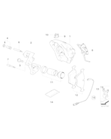 Klocki hamulcowe przód BMW E90 E91 E92 X1 325 330 335 - 34116794917