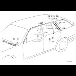 Nit rozprężny atrapy BMW E34 E32 730 735 740 750 520 525 530 535 524 540 M5 - 51711928946