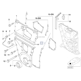 Zestaw uszczelek pokrywy rozrządu BMW E36 318is M44 - 11141743065