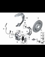 Czujnik klocków hamulcowych przód lewy MINI F55 F56 F57 F60 - 34356865611