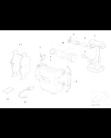 Czujnik klocków tył BMW X5 X6 E70 E71 F15 F16 F85 F86 25dX 28iX 30dX 35dX 35iX 40dX 40eX 50iC M50dX - 34356854168