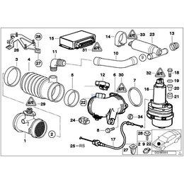 Linka cięgno trakcji ASC BMW E39 535i 540i V8 prod do 09.1998r silniki M62 - 35411162633