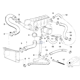 Przewód elastyczny układu chłodzenia - 11531247501