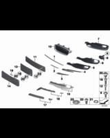 Atrapa zderzaka przód prawa BMW F30 F31 316 318 320 325 328 330 335 - 51117255368