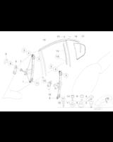 Podnośnik szyby tył lewy BMW E46 316 318 320 323 325 328 330 - 51358212099