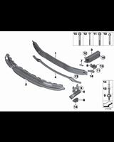 Mocowanie wzmocnienia zderzaka przód prawe BMW F20 F21 F22 F23 F30 F31 - 51117266192