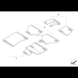 Kpl. dywaników gumowych przód BMW X5 X6 E70 E71 - 51470416692