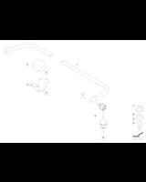 Łącznik stabilizatora tył BMW E60 E61 E63 520 525 530 540 545 550 630 645 650 - 33506781540