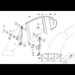 Podnośnik szyby tył BMW E46 sedan touring 316 318 320 323 325 328 330 - 51358212100