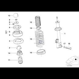Amortyzator dodatkowy tylny - 33532226238